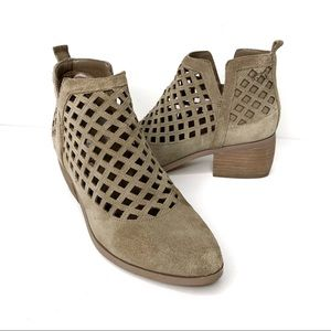 CROWN VINTAGE Avalin Suede Ankle Boots Taupe 8.5